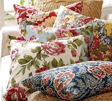 searching for a non-grandma floral pillow cover for our dark brown couches