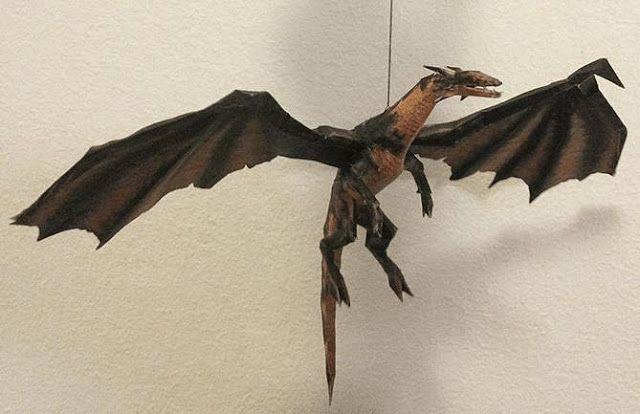 Drakan Arokh Dragon Paper Model By Metalfist Via Instructables