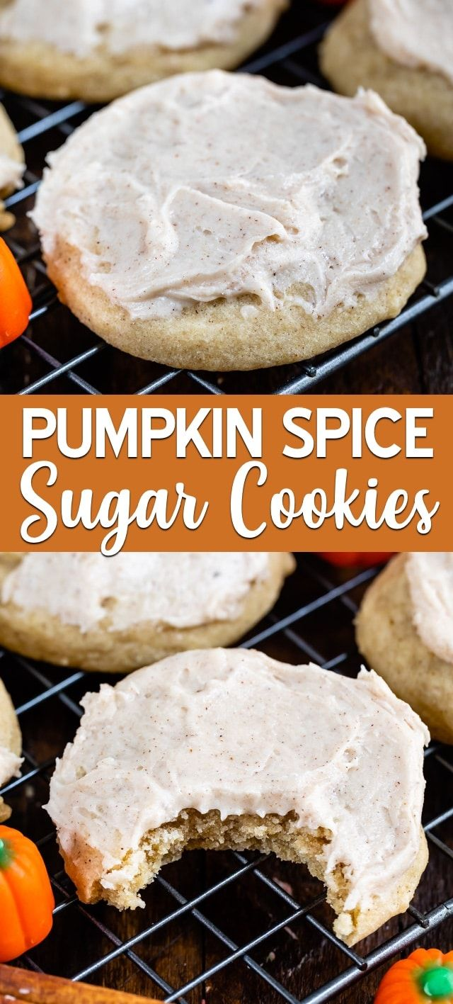 Pumpkin Spice Cookies (with frosting) - Crazy for Crust