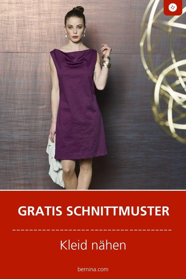 Photo of Kleid mit Wasserfallausschnitt Freebie-Muster