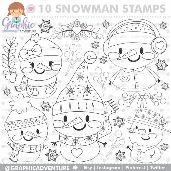 Christmas Stamp, Digital Stamp for all your projects