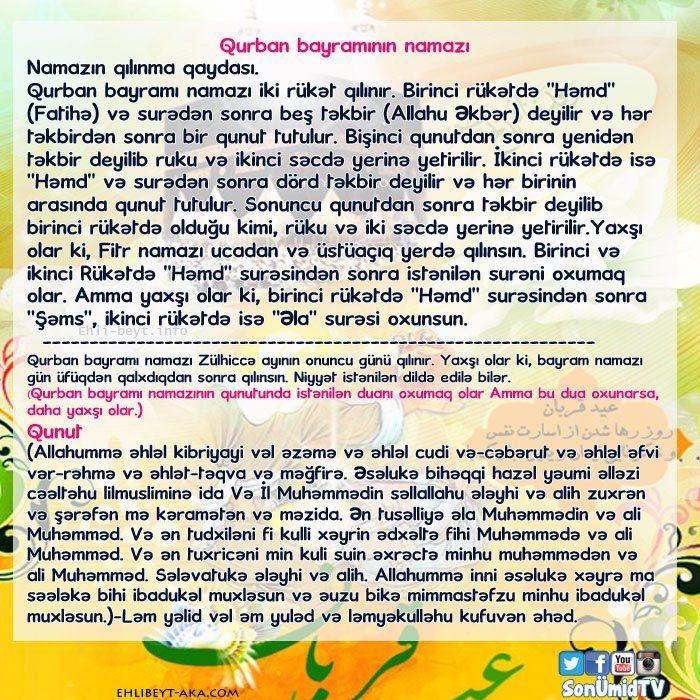 Qurban Bayraminin Namazi Citaty