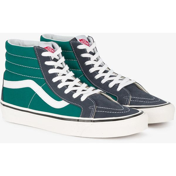 85bdcd5436aa86 Vans Blue Green Two Tone Ua Sk8 Hi 38 Dx Sneakers ( 85) ❤ liked on ...