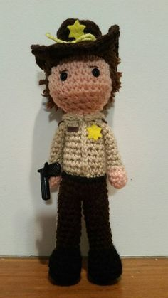 Crochet Rick Grimes inspired toy