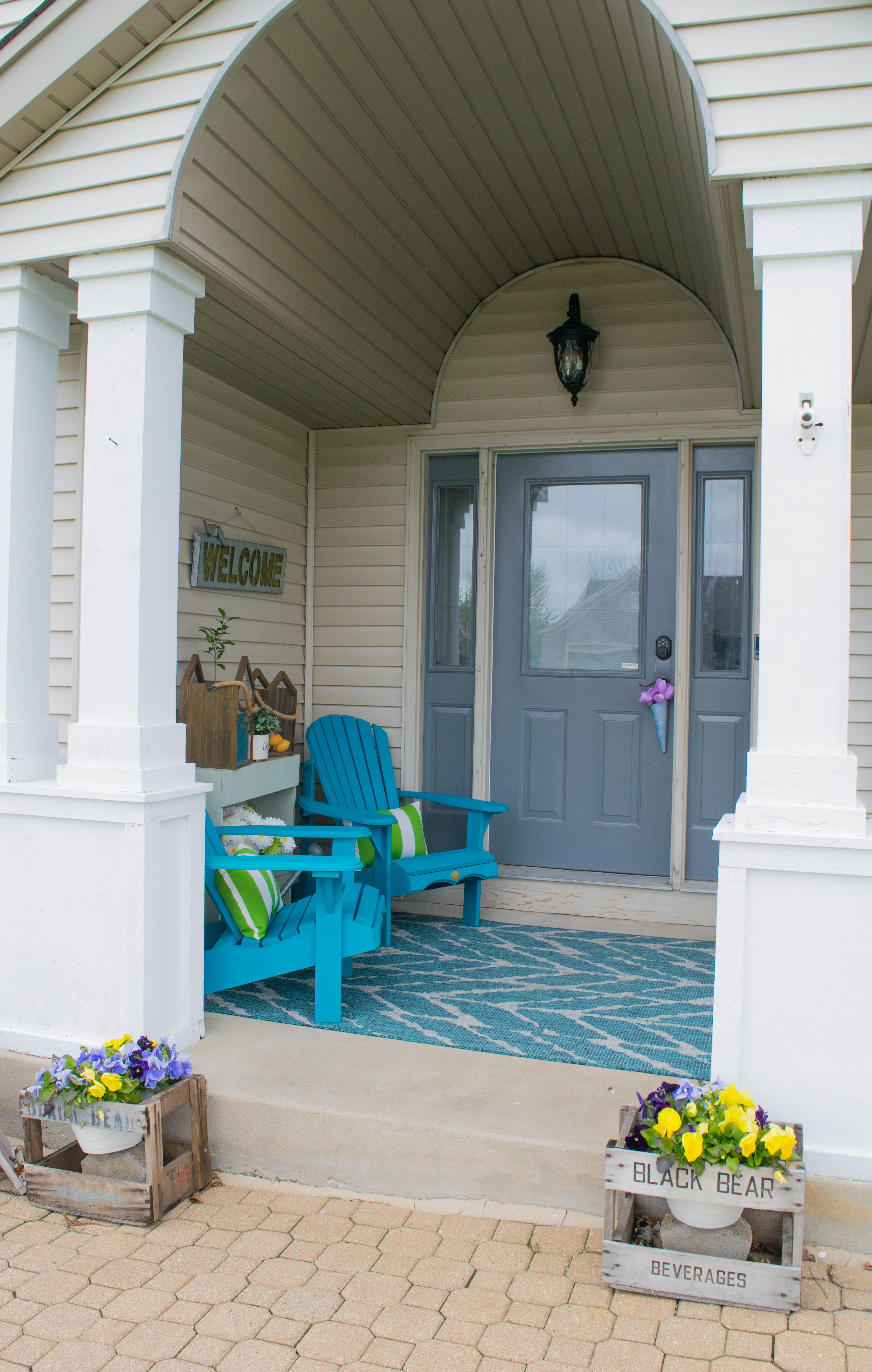 Front Porch Decorating Ideas With The Perfect Adirondack Chairs Our House Now A Home: Front Porch Decorating Ideas With The Perfect Adirondack Chairs