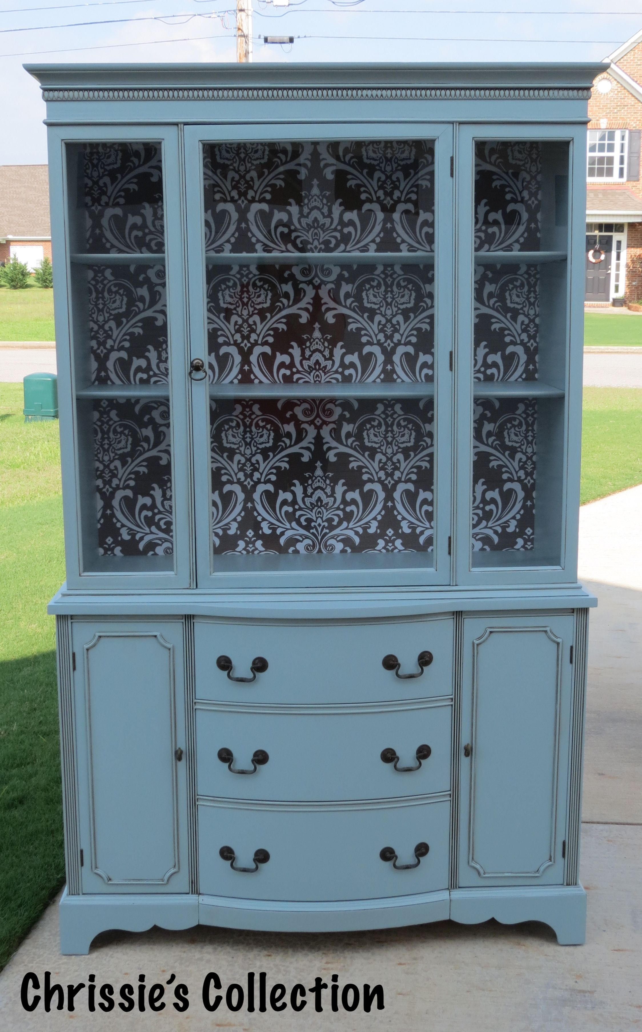 Damask china cabinet by chrissieus collection painted in general