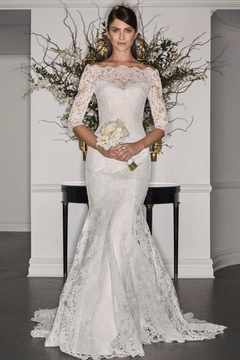 Gorgeous long sleeve wedding dresses for winter brides mermaid