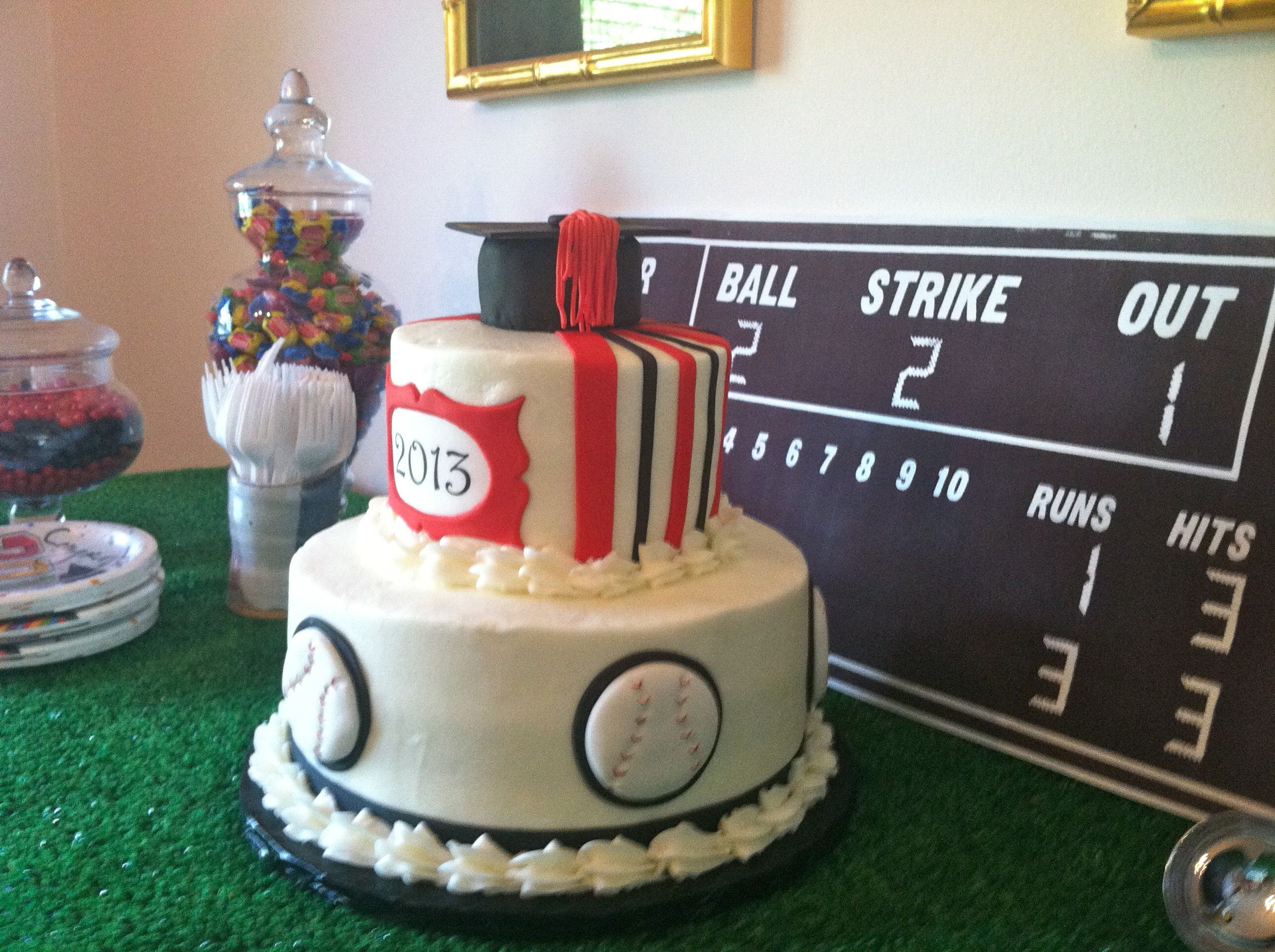Another view of the cake.  Heather did a fantastic job!