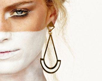 Boucles d'oreilles or & blanc par benamimichal