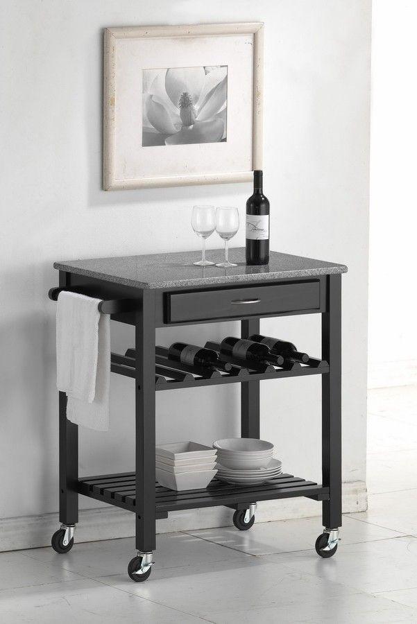 modern kitchen cart pantry storage ideas quebec gray wheeled with granite top