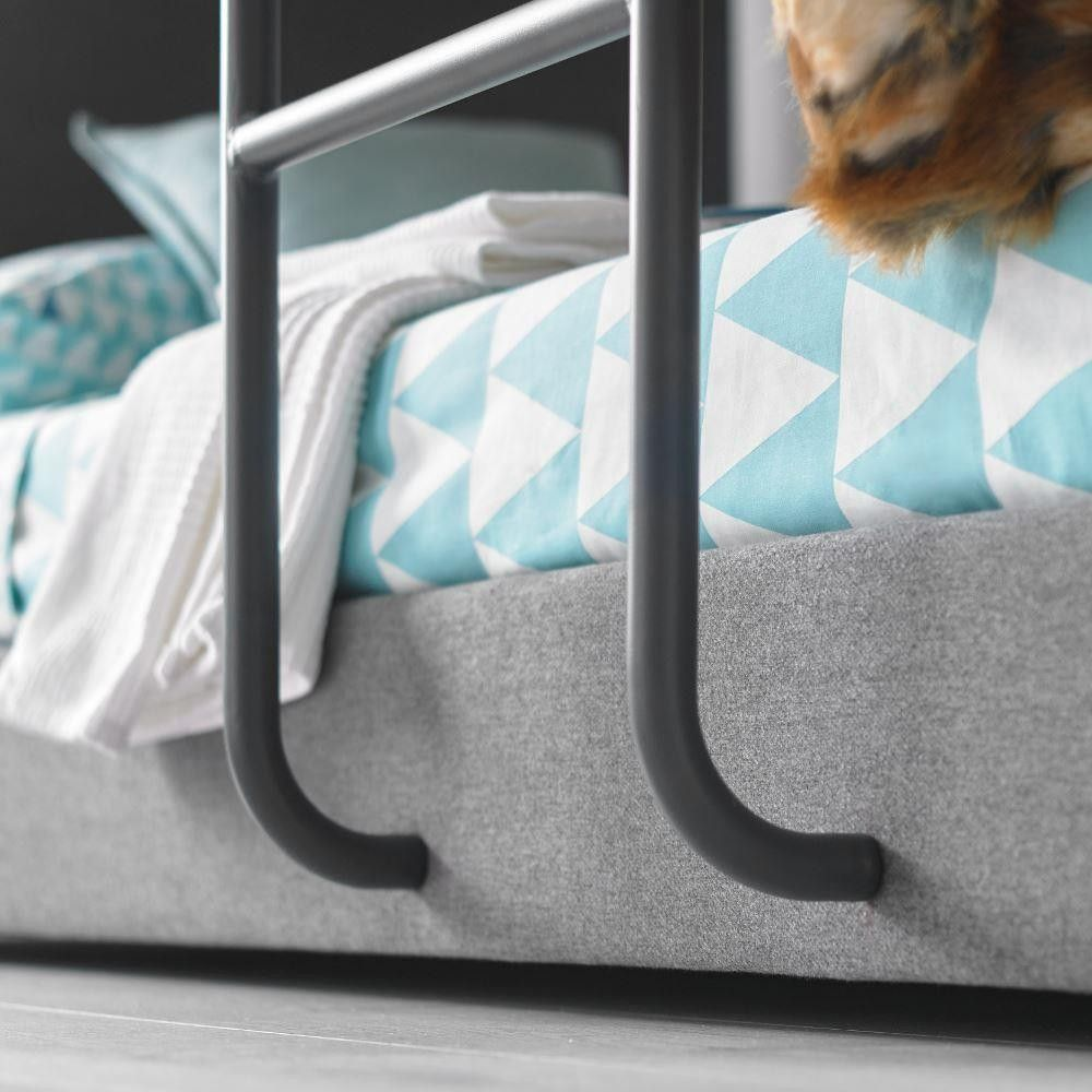 Saturn Bunk Bed Saturn Grey Fabric Bunk Bed Beautiful Beds Grey Bunk Beds