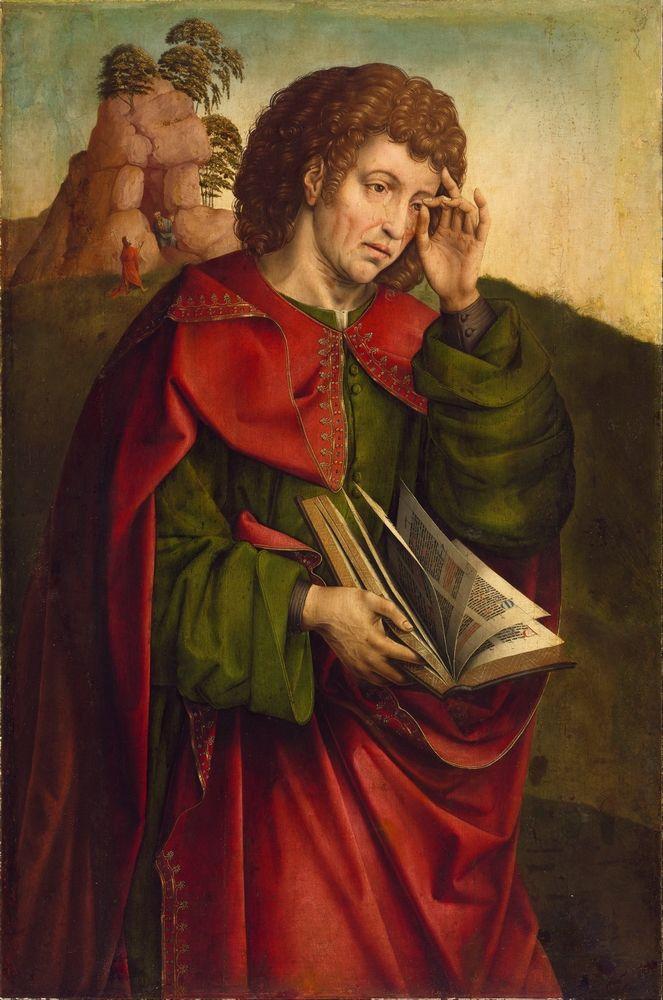 Colijn DE COTER Saint John the Evangelist Weeping 1500-1504