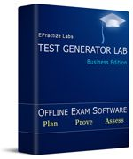 Next generation Test Making software tools from EPractize Labs Software. Create exam with 6 different question types. Suitable for any kind of organization or individuals. Download Now !