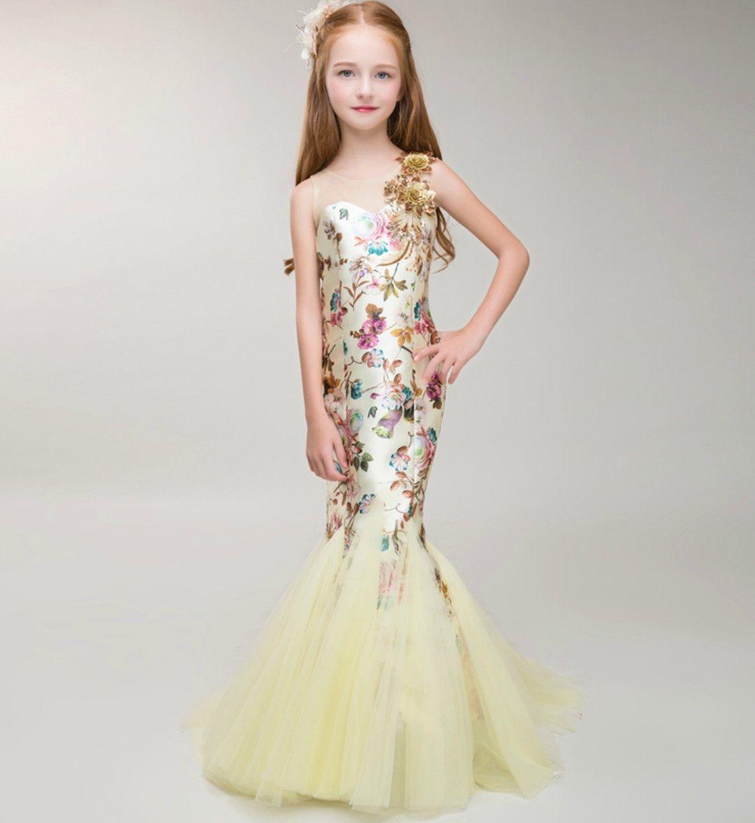 Mermaid Dress  Mermaid dress for kids, Wedding dresses for kids