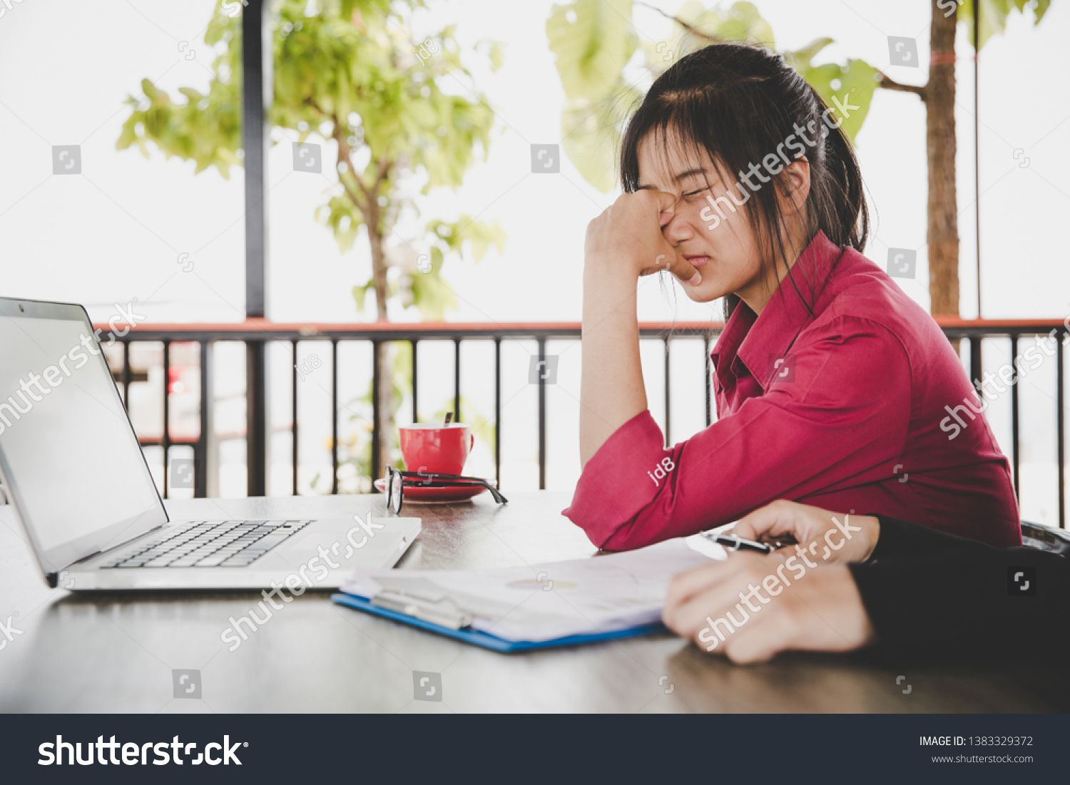 Tired frustrated business people feeling stressed business problem failure or company bankruptcy concept