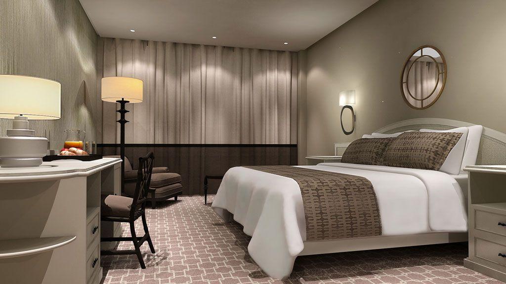 Render interior hotel bahia habitaciones opci n 2 - Furnish decorador de interiores ...