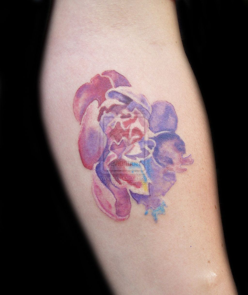 Flower Watercolor Tattoo Watercolor Tattoo Watercolor Tattoo