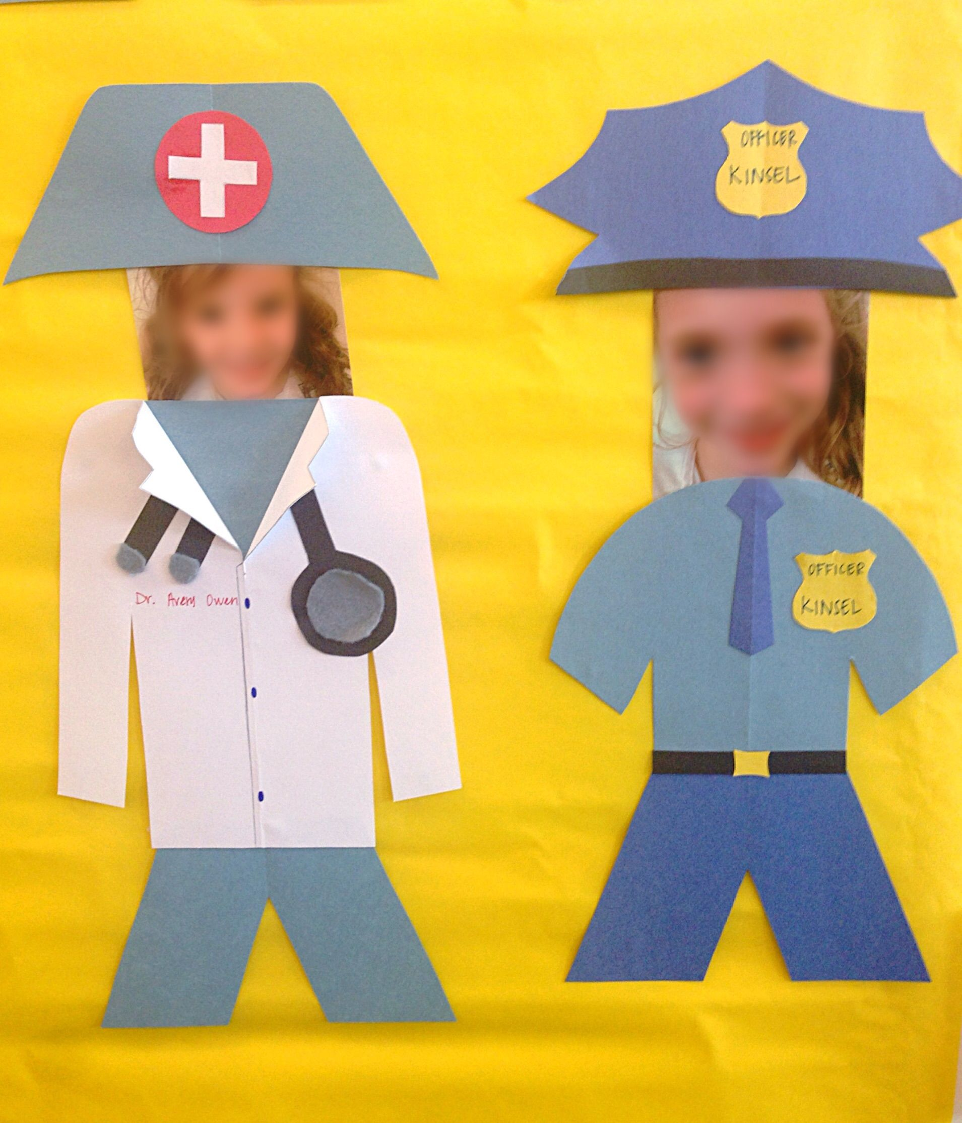 Career Week Craft Doctor And Police Officer