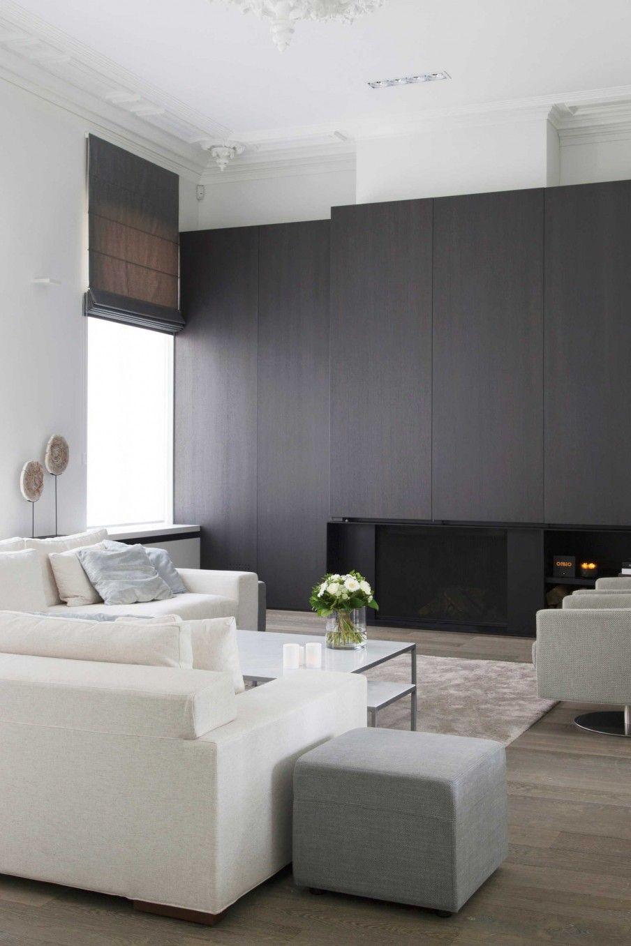zwarte-wandkasten-woonkamer | wandkasten woonkamer | Pinterest ...
