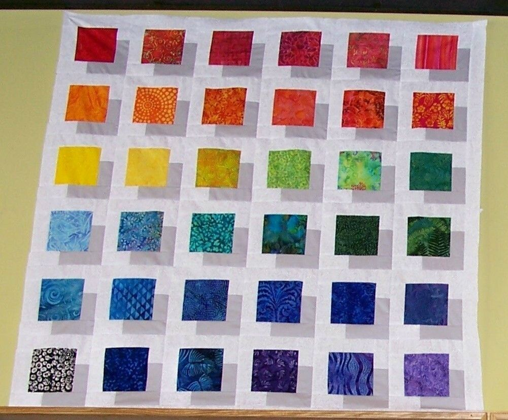 COLOR BLOCK QUILT PATTERN Pattern Make this Stunning Quilt and WOW ... : quilts and color - Adamdwight.com