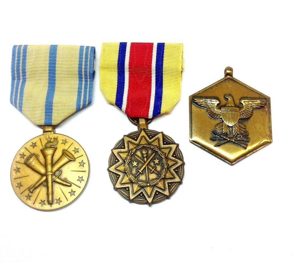 Vintage Military Medals Lot (3) Armed Forces Reserve, Army