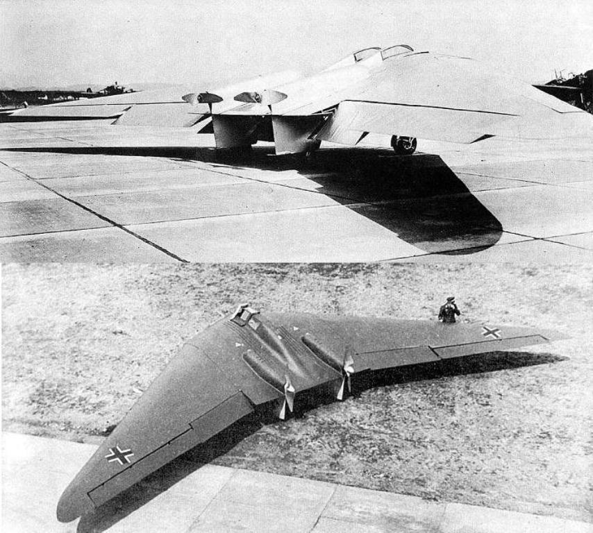 Horten Ho-Vb & Ho-Vc (German stealth bomber from the 1940 ...
