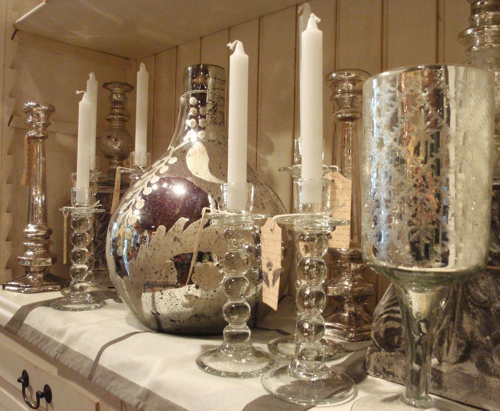 candle holders | ... Mercury Demi John, Glass Boule Candle Holders ...