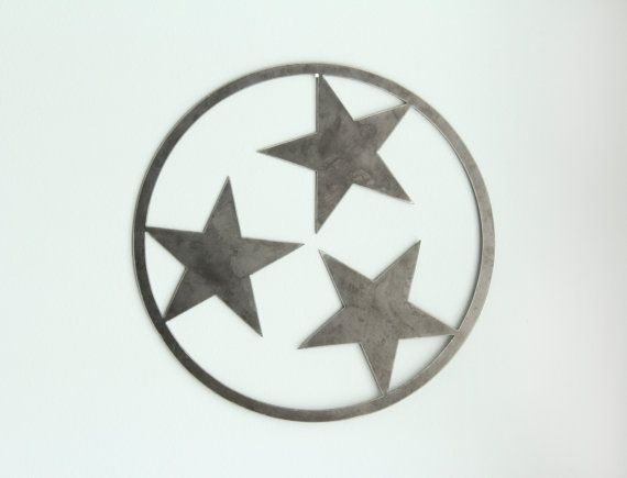 Tennessee Tri Star Design Rustic Industrial Wall Decor Perfect For Any Tennessean
