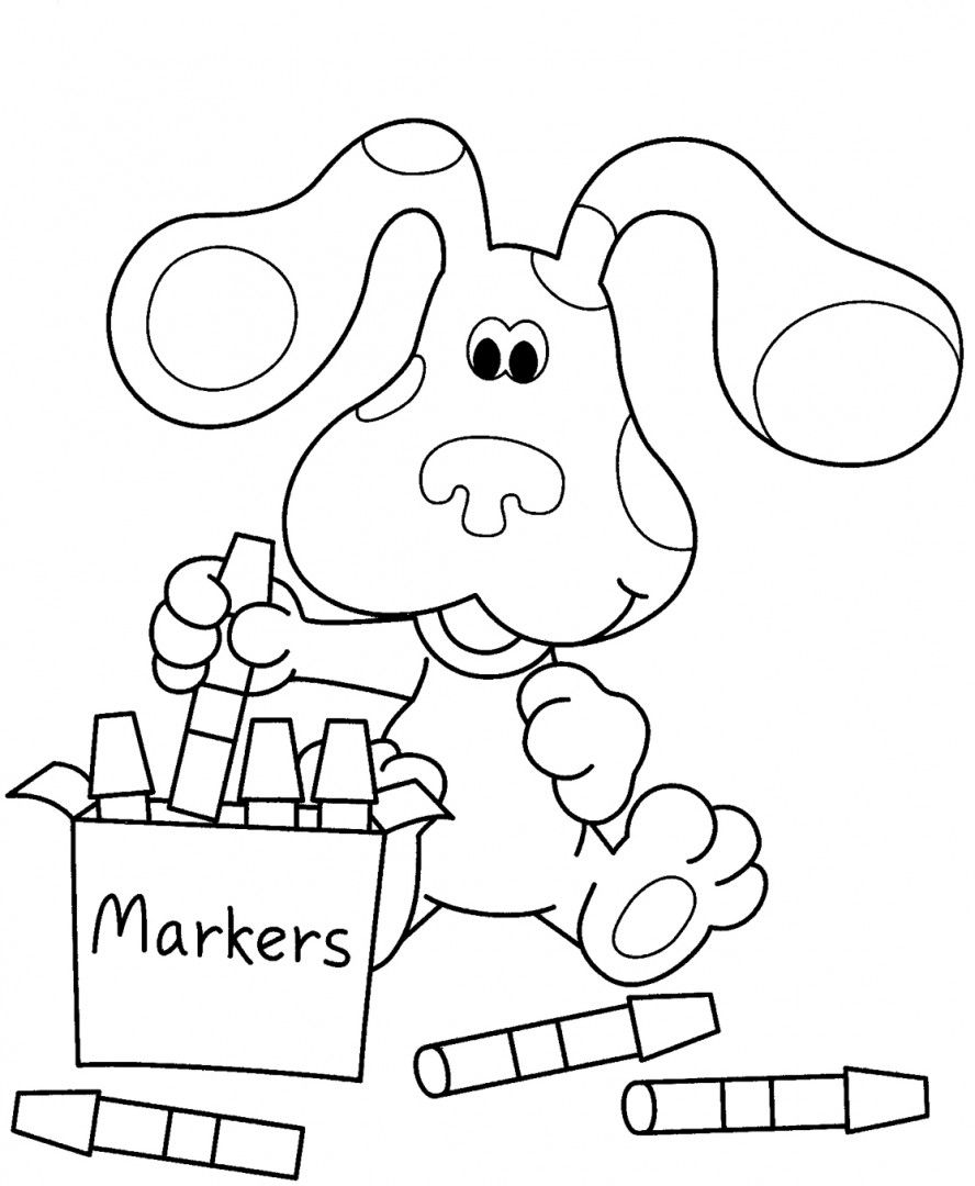 http://colorings.co/blue-clues-coloring-pages/ | Para pintar ...