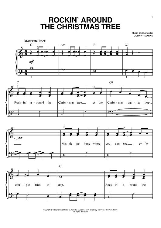 rockin around the christmas tree pdf piano