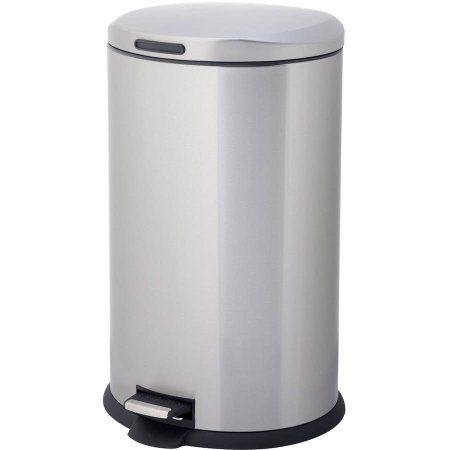 Homezone Va40916a 40 Liter Stainless Steel Oval Step Trash Can
