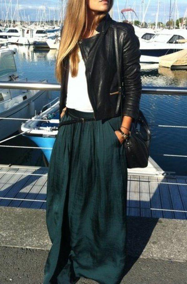 comment porter une jupe longue jupes mode mode et mode de la jupe longue