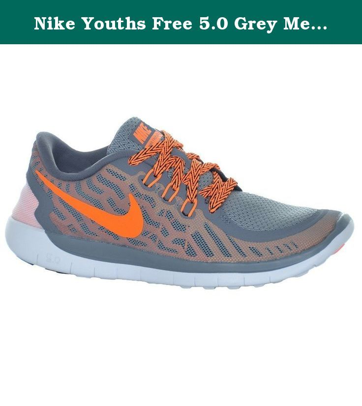 Nike Youths Free 5.0 Grey Mesh Trainers 38 EU. Free Run 5.0 from Nike comes
