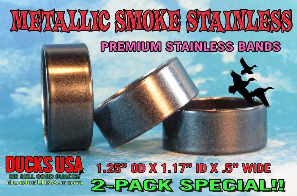 DUCK CALL BANDS Brass Custom Laser Cut Premium Full 360 Wrap 2-Pack