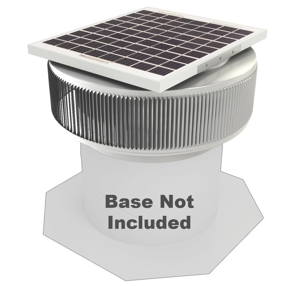 Active Ventilation 740 Cfm Mill Finish 10 Watt Solar Powered 12 In Dia Retrofit Attic Roof Fan Silver Attic Renovation Solar Fan Solar Power