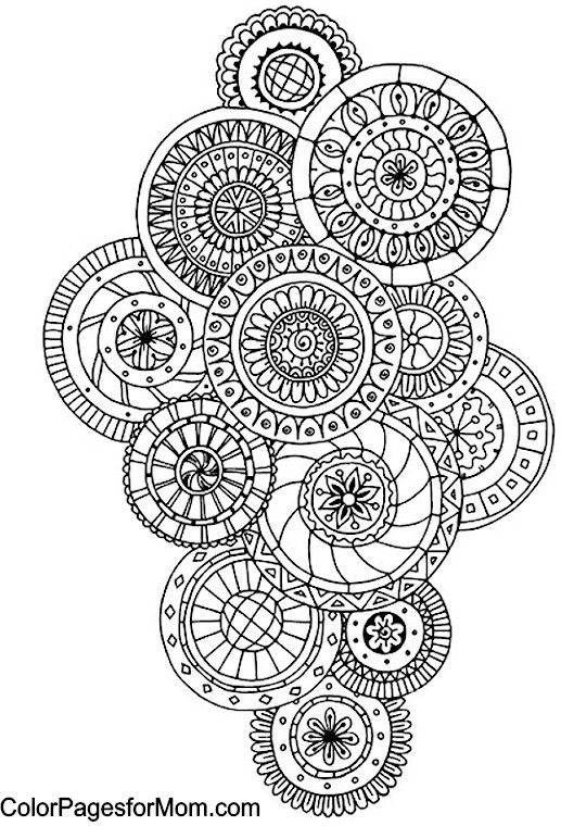 Paisley 44 Coloring Page