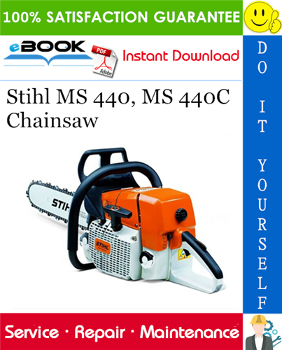 Stihl Ms 440 Ms 440c Chainsaw Service Repair Manual Stihl Repair Manuals Repair