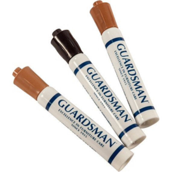 Wood Furniture Touch Up 3 Marker Pen Scratch Brown Finish Repair Kit Guardsman 465800