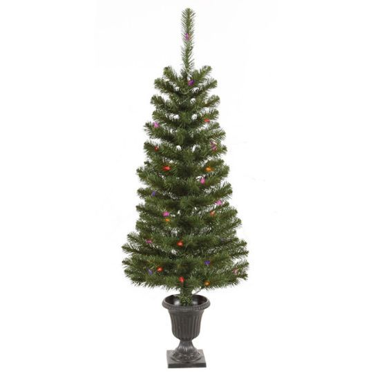 4 Ft Pre Lit Green Spruce Potted Christmas Trees 2 Pack Potted Christmas Trees Artificial Christmas Tree Potted Trees