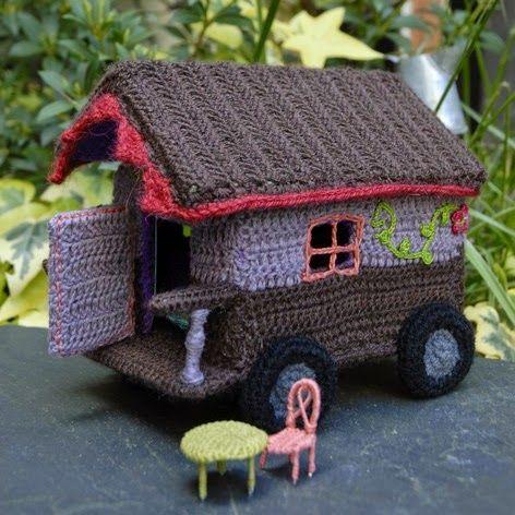 La douce, roulotte miniature Häkeln Spielzeug Pinterest