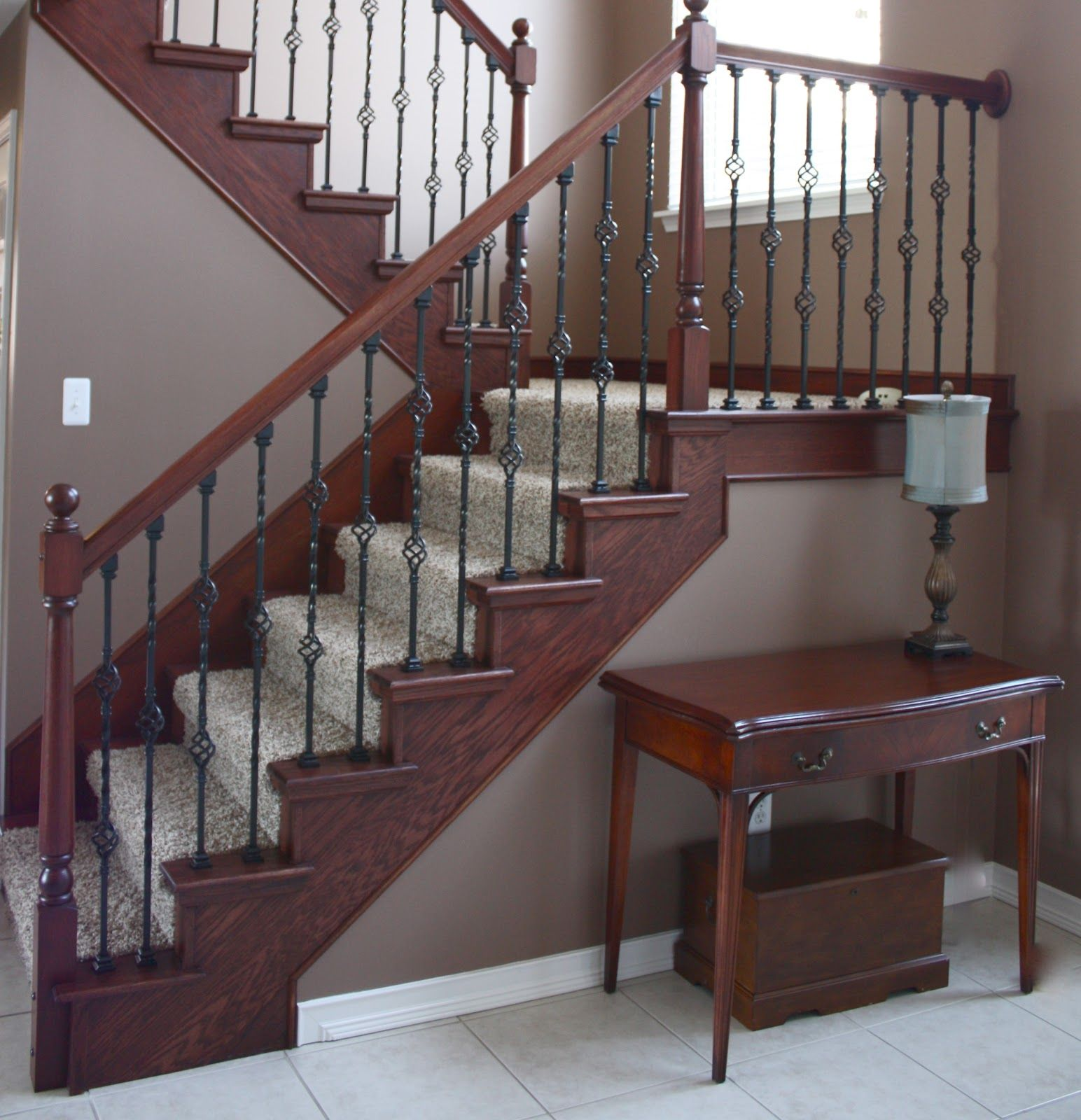 Staircase Remodel: Staircase Makeover~Before And After- Exactly What We Have