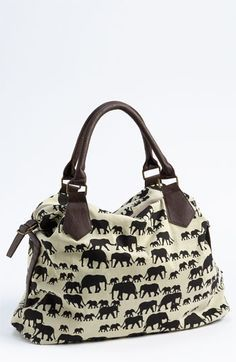 Free Shipping And Returns On Amici Accessories Elephant Print Canvas Shoulder Bag At Nordstrom A Pachyderm Raises Slouchy