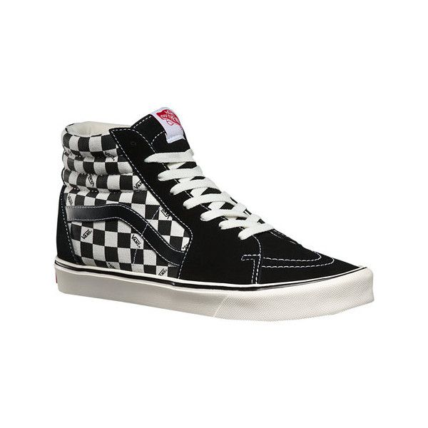 74835777248984 Vans Sk8-Hi Lite Plus - Reissue Black Check Casual Shoes ( 75) ❤ liked on  Polyvore featuring shoes