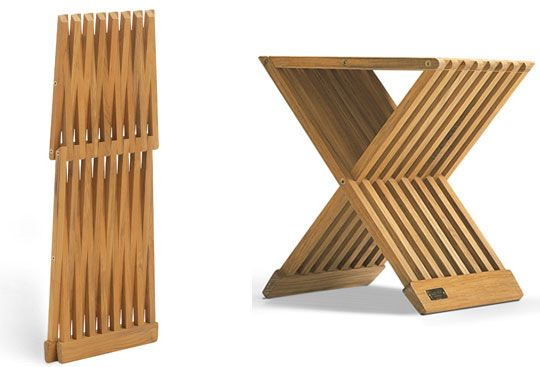 3 FoldAway Perches by Skagerak Danish furniture Small apartments