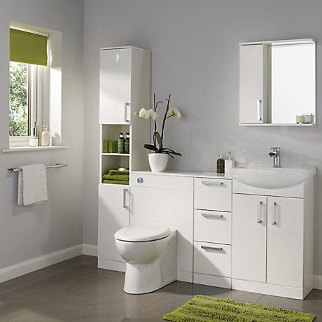 Bathroom Sinks B&Q bathroom furniture & cabinets | diy at b&q | bathroom | pinterest