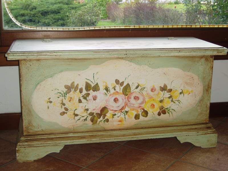 Cassapanca decorata a barberino di mugello kijiji painted furniture decoupage furniture - Decoupage su mobili vecchi ...