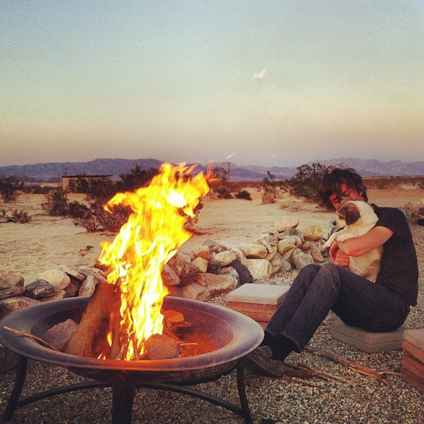 Here's me getting primal. Pass the hot dogs please. No s'mores for dogs. Well, maybe some graham cracker...