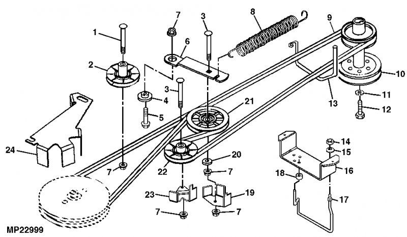 John Deere Lt155 38 Deck Belt Diagram