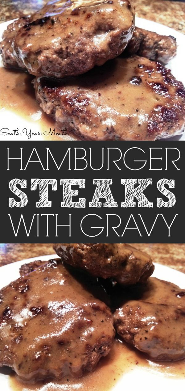 Hamburger Steaks with Brown Gravy