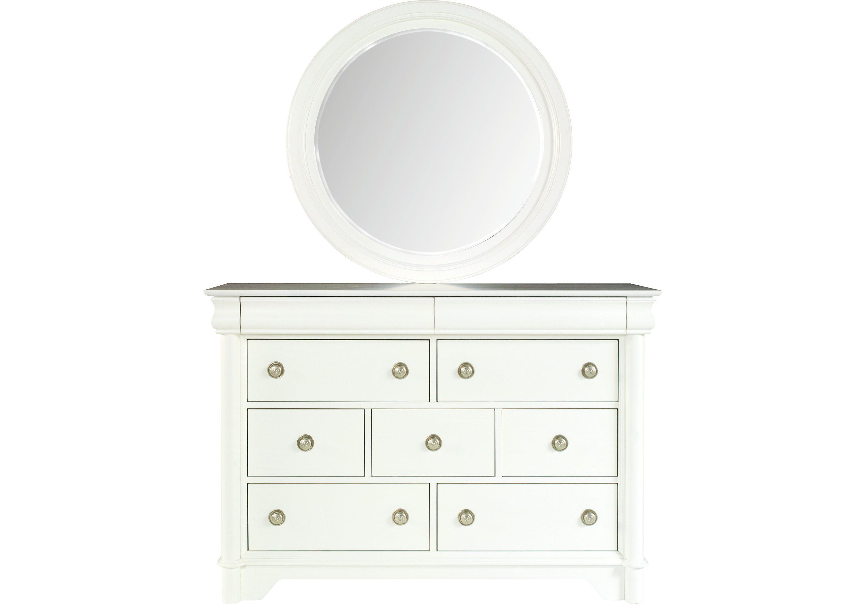 Picture Of Oberon White Dresser Mirror Set From Dresser Mirror Sets